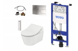 TOTO WASHLET RX Ewater+ Auto flush version + TOTO RP WC + TOTO cistern frame + TOTO Flush plate Complete Set
