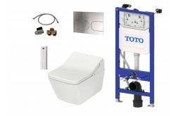 TOTO WASHLET SX Ewater+ Auto flush version + TOTO SP WC + TOTO cistern frame + TOTO Flush plate Complete Set