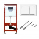 Hanging Toilet Flush Button Tece 9.400.000 White 112cm