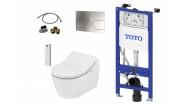 TOTO WASHLET RX Ewater+ Auto flush version + TOTO RP WC + TOTO cistern frame + TOTO Flush plate Complete Set