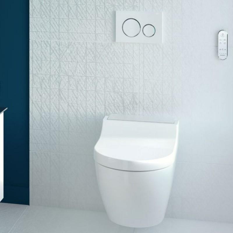 Geberit AquaClean Tuma Comfort complete shower toilet set ...